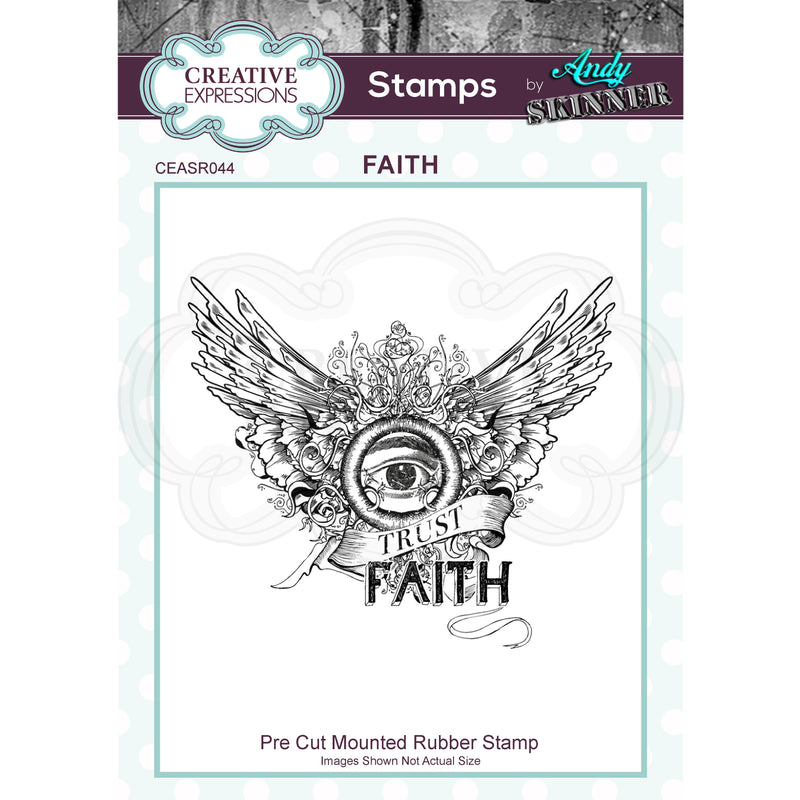 Andy Skinner Faith  Rubber Stamp