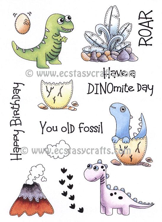 Creative Expressions: Dinosaur Friends A5 Clear Stamp Set