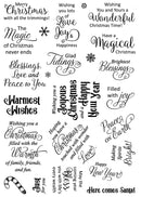 Creative Expressions - Christmas Sayings Clear Stamp Set