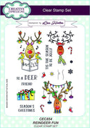 Creative Expressions Reindeer Fun A5 Clear Stamp Set