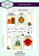 Creative Expressions Festive Tags A5 Clear Stamp Set