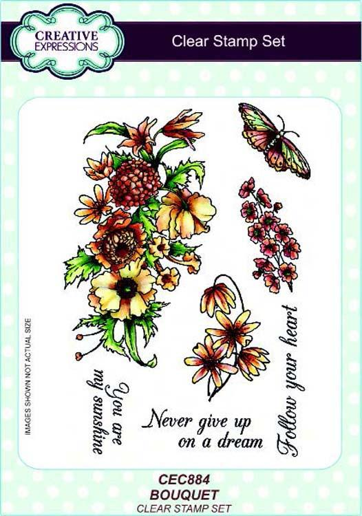 Creative Expressions A5 Clear Stamp Set Bouquet