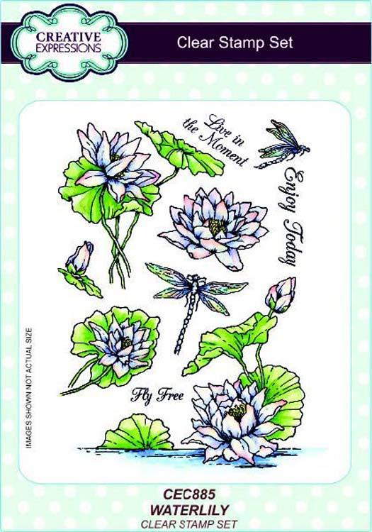 Creative Expressions A5 Clear Stamp Set Waterlily