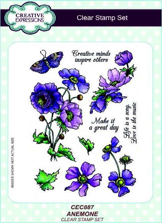 Creative Expressions A5 Clear Stamp Set Anemone