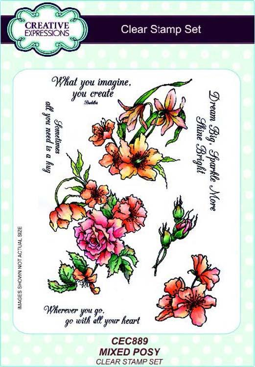 Creative Expressions A5 Clear Stamp Set Mixed Posy