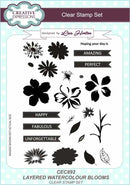Creative Expressions Layered Watercolour Blooms A5 Clear Stamp Set