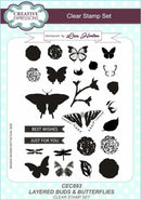 Creative Expressions Layered Buds & Butterflies A5 Clear Stamp Set