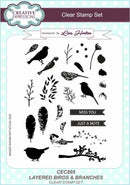 Creative Expressions Layered Birds & Branches A5 Clear Stamp Set