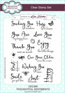 Creative Expressions Thoughtful Sentiments A5 Clear Stamp Set