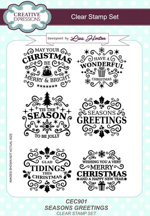 Seasons Greetings A5 Clear Stamp Set