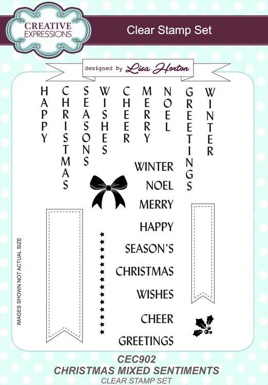 Christmas Mixed Sentiments A5 Clear Stamp Set