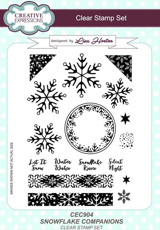 Snowflake Companions A5 Clear Stamp Set