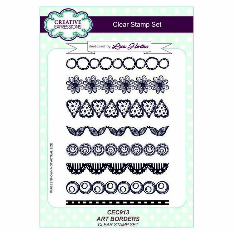Creative Expressions Art Borders A5 Clear Stamp Set