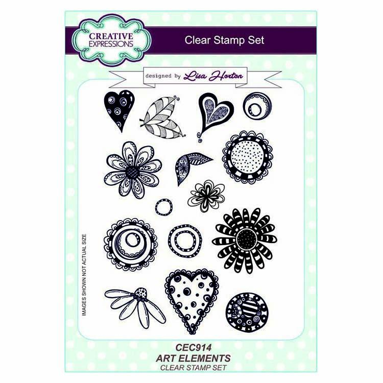 Creative Expressions Art Elements A5 Clear Stamp Set