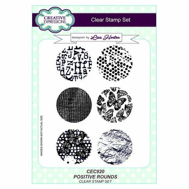 Creative Expressions A5 Artist Trading Clear Stamp Set Positive Rounds