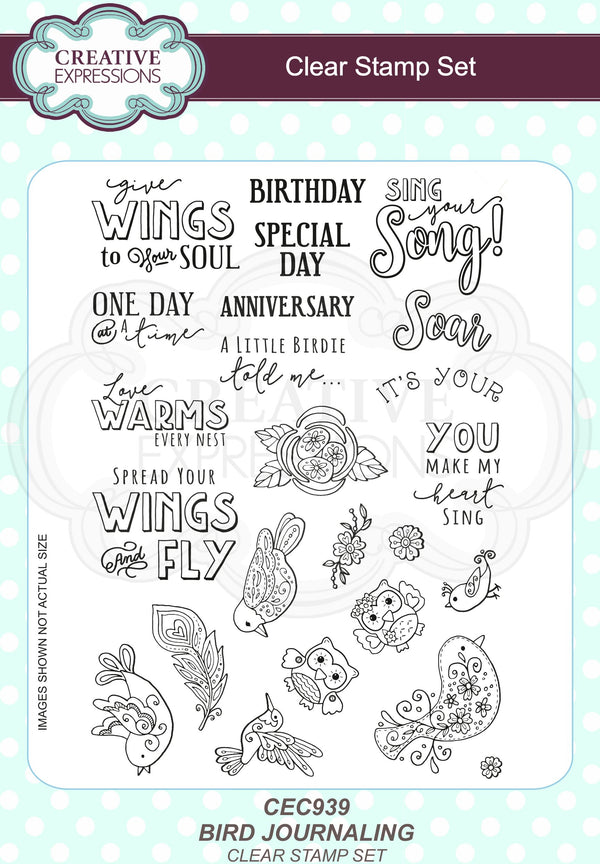 Bird Journaling A5 Clear Stamp Set