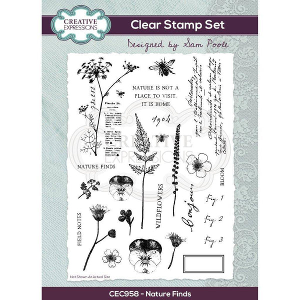Sam Poole Nature Finds A5 Clear Stamp Set