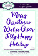 Creative Expressions Die Stylish Script - Christmas Wishes