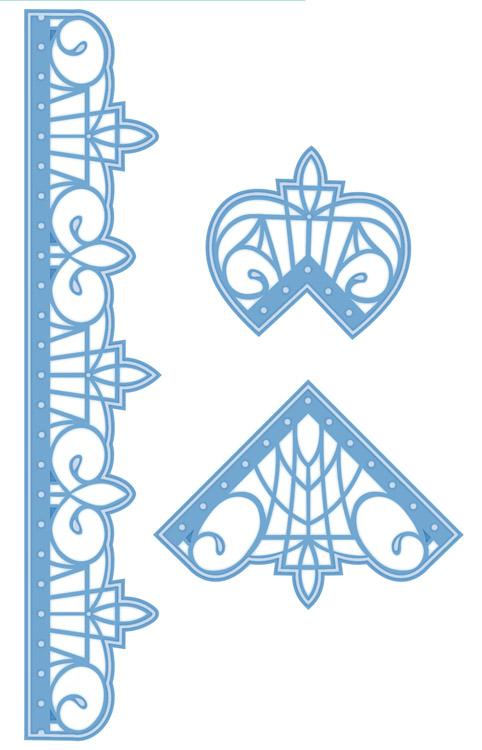 Pacific Ocean Collection Border & Corners Die