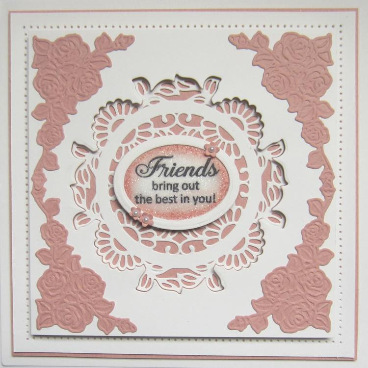 Finishing Touches Collection Rose Spray Corners Die