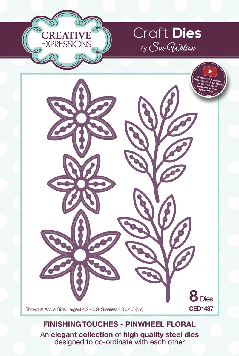 Finishing Touches Collection Pinwheel Floral Die