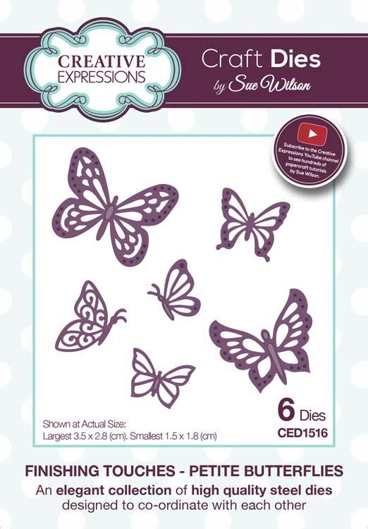 Finishing Touches Collection Petite Butterflies Die