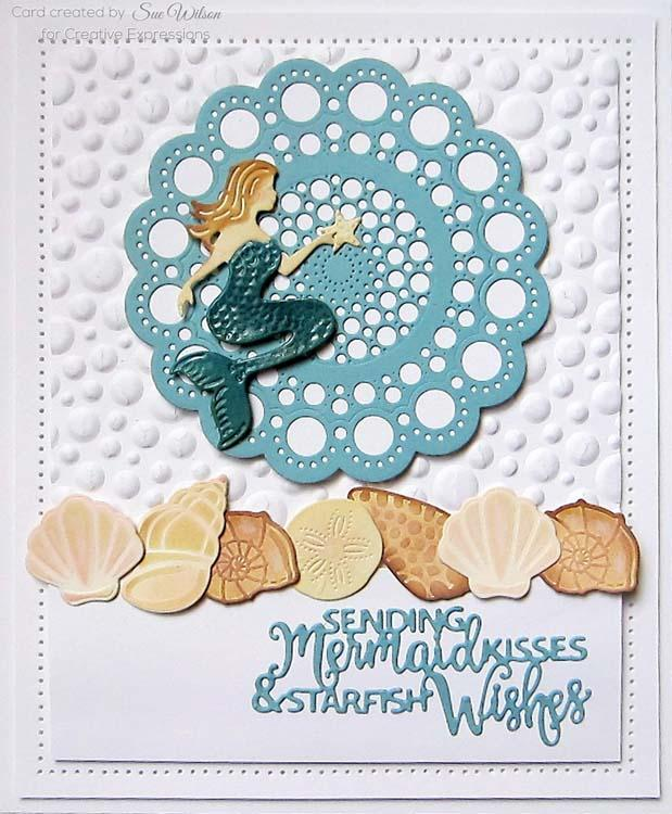 Creative Expressions Dies by Sue Wilson Necessities Collection Mermaid Kisses