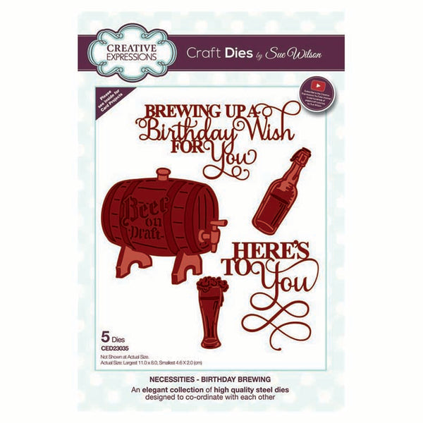 Dies by Sue Wilson Necessities Collection Birthday Brewing