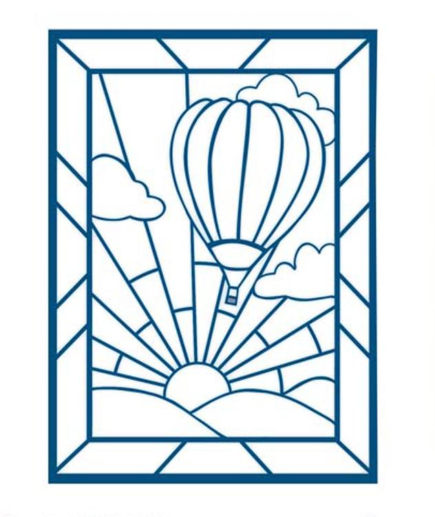 Stained Glass Collection Hot Air Balloon Die
