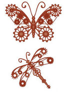 Industrial Chic Collection Butterfly & Dragonfly Die