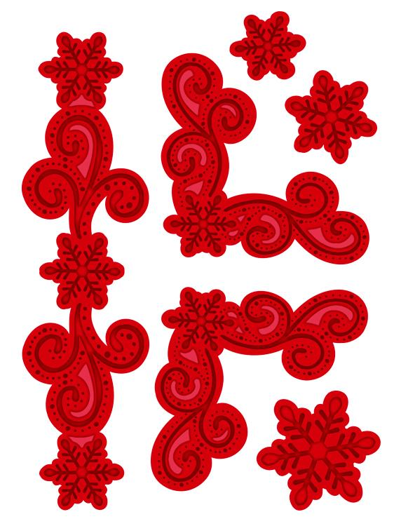 Festive Collection Snowflake Flourish & Corner