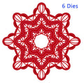 Festive Collection Scalloped Snowflake Frame Die