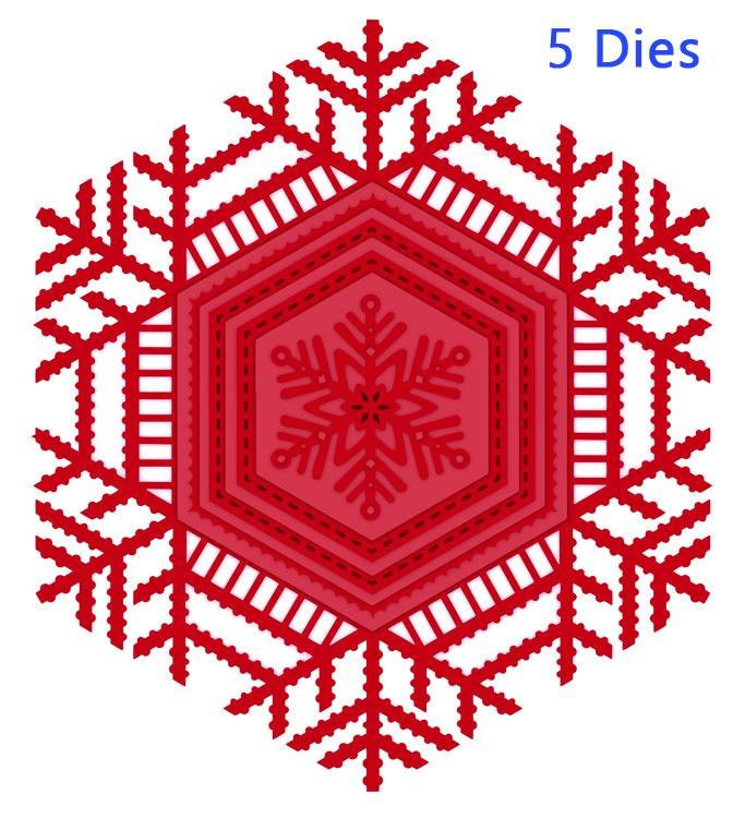 Festive Collection Lace Snowflake Frame