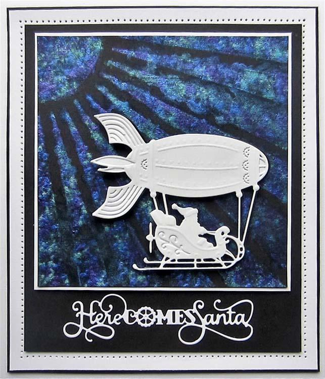 Festive Industrial Chic Collection Flying Santa