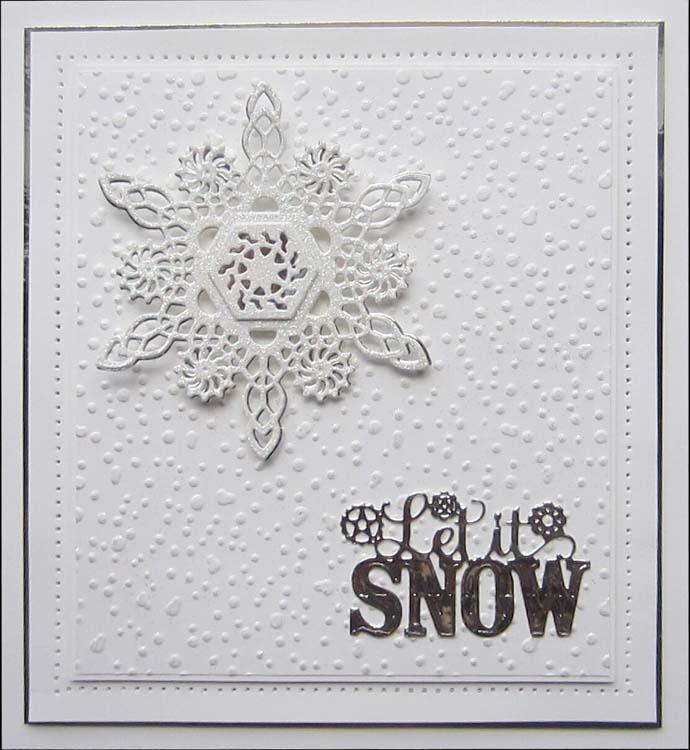 Festive Industrial Chic Collection Let it Snow