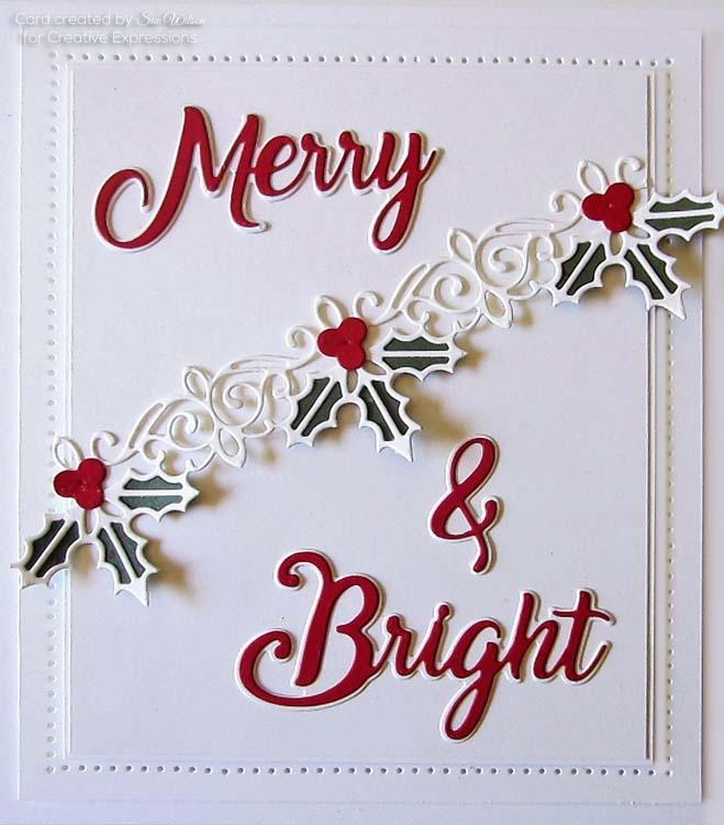 Festive Collection Holly and Berry Border Craft Die