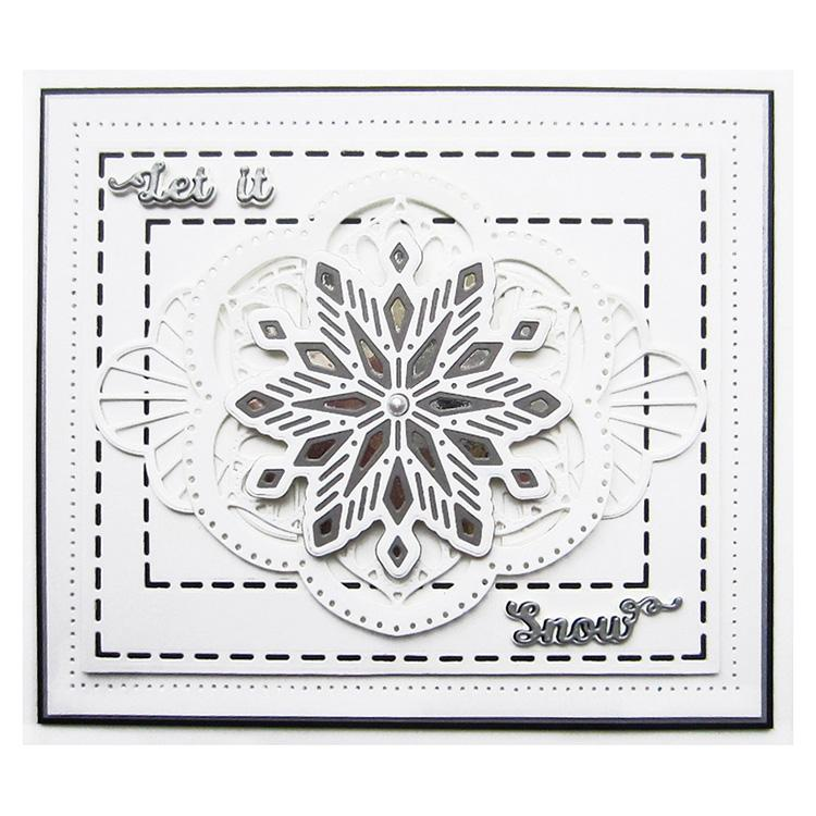 Festive Collection Ruffled Edge Christmas Frame