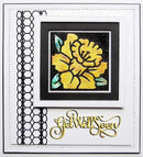 Creative Expressions Frames and Tags Collection Daffodil Flower Square