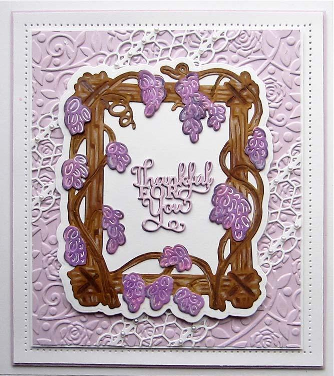 Creative Expressions Frames and Tags Collection Wisteria