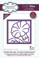 Creative Expressions Dies by Sue Wilson Frames and Tags Collection Petunia Flower Square