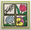 Creative Expressions Dies by Sue Wilson Frames and Tags Collection Pansy Flower Square