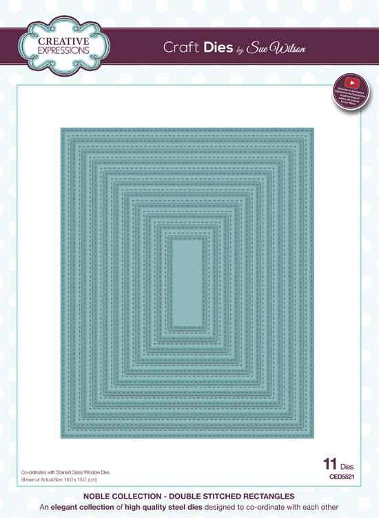 Noble Collection Double Stitched Rectangles Die