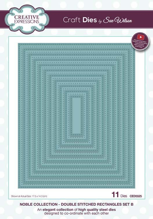 Noble Collection Double Stitched Rectangles Set B Die