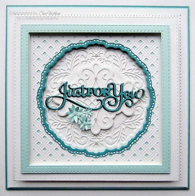 Creative Expressions Dies by Sue Wilson Background Collection Basketweave