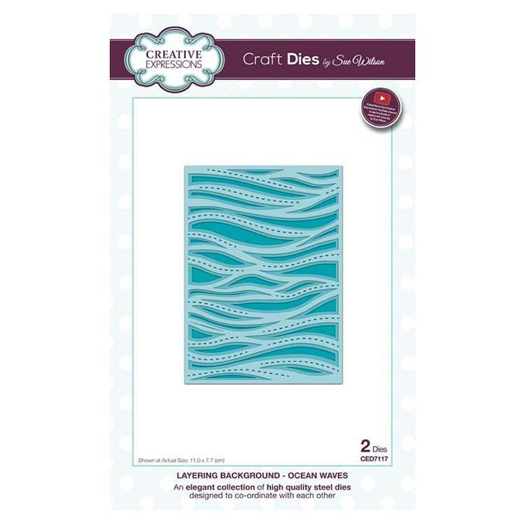 Creative Expressions Dies by Sue Wilson Background Collection Layered Ocean Waves