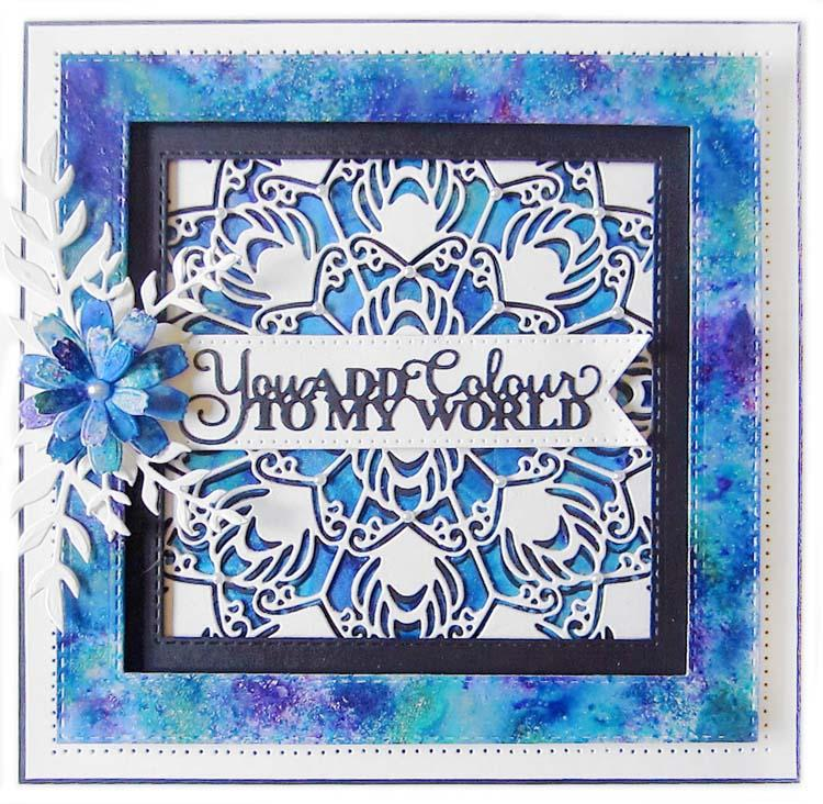 Dies by Sue Wilson Background Collection Peacock Plumage
