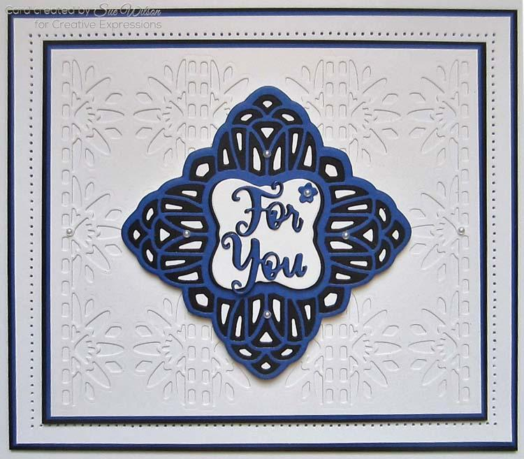 Dies by Sue Wilson Triple Layer Collection Charlene Border