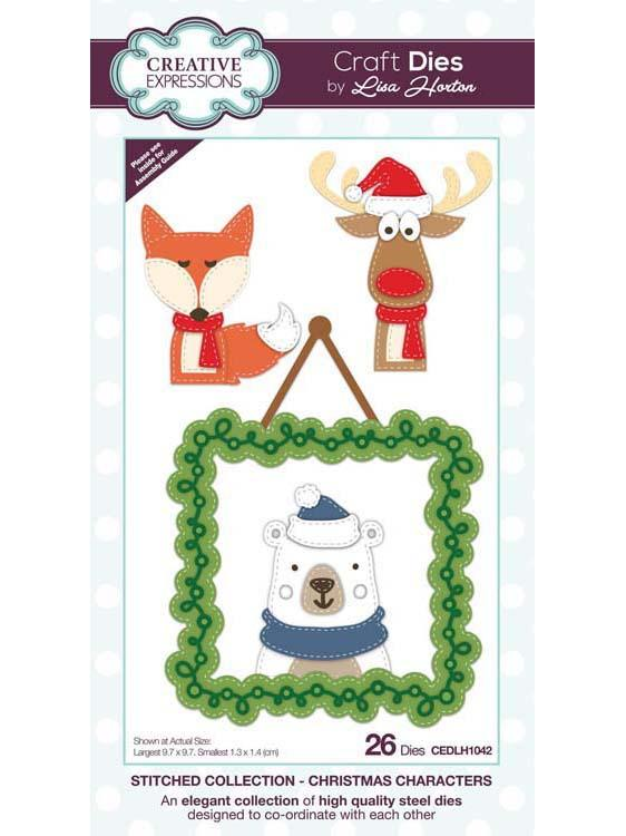 Stitched Collection Christmas Characters Craft Die