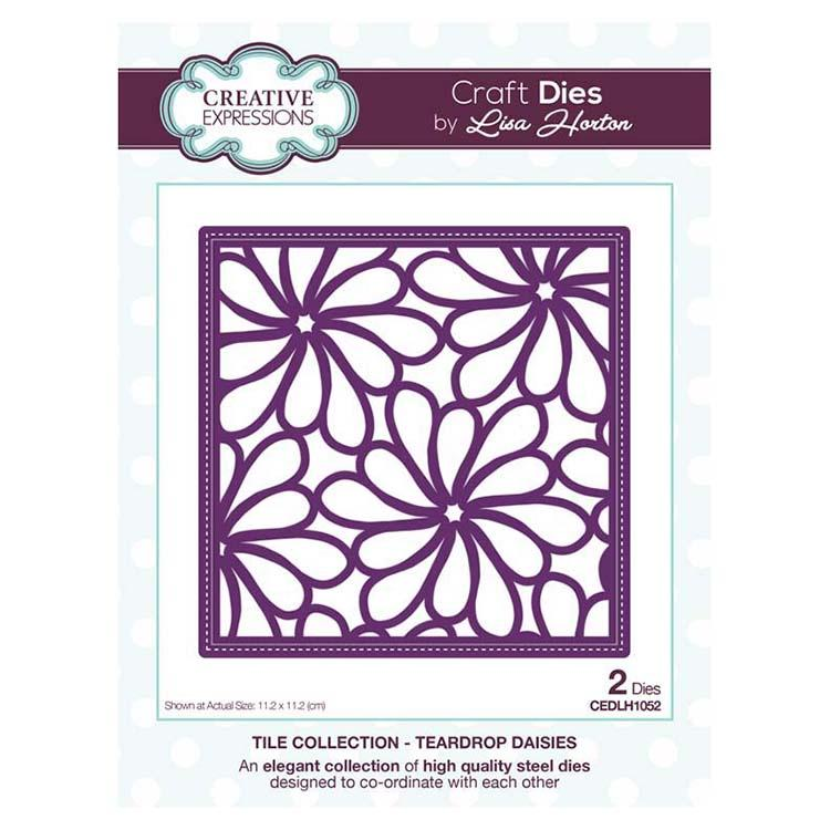 Creative Expressions Tile Collection Teardrop Daisies