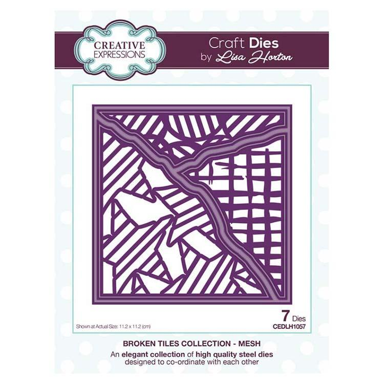 Creative Expressions Broken Tiles Collection Mesh